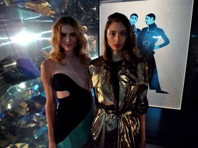 Andreja Pejic and Alexandra Agoston in the mirror room