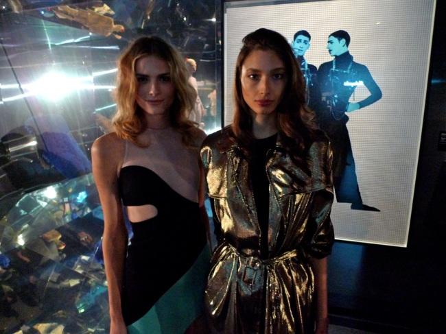 Andreja Pejic and Alexandra Agoston in the mirror room