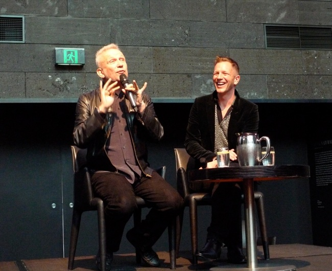 Jean Paul Gaultier and Curator Thierry Maxime Loriot