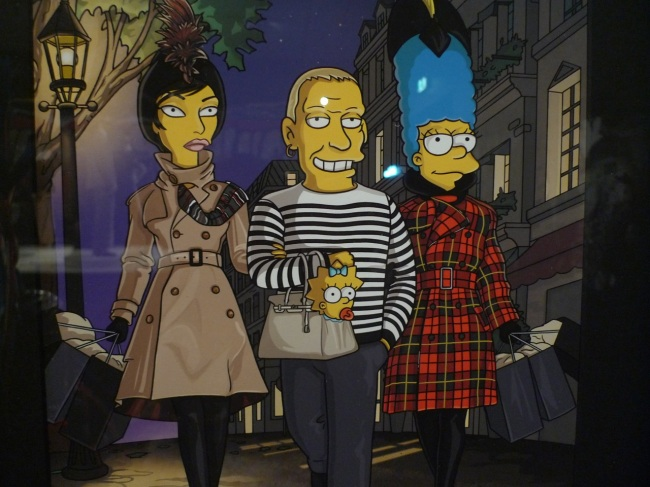 Linda Evangelista, Jean Paul Gaultier, Maggie and Marge Simpson