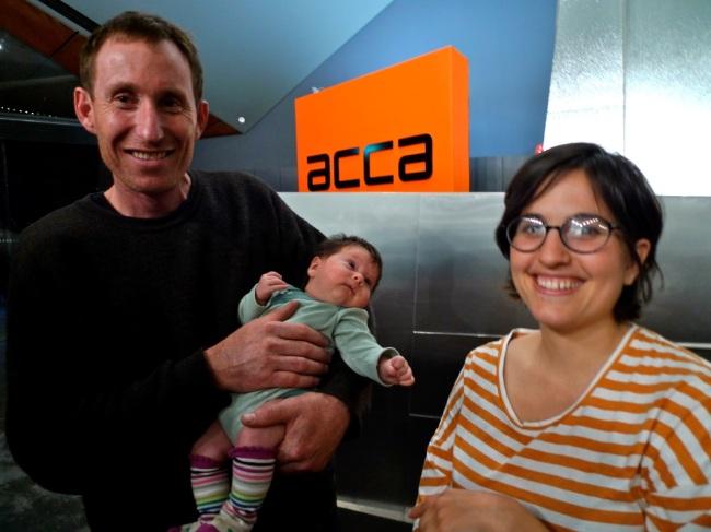 Stuart Ringholt, baby Juniper and Mum Gabrielle De Vietri