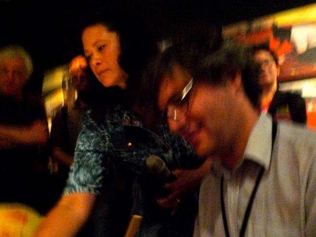 Curators Kristi Monfries and Joel Stern