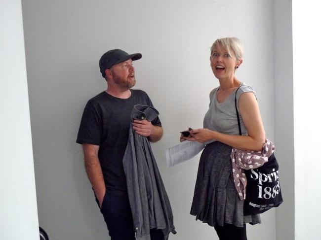 Dan 'Moisty' Moynihan chatting up Susan Jacobs
