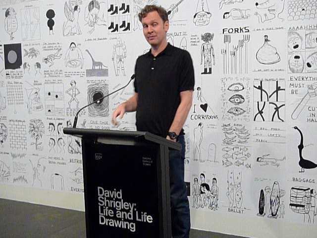 David speaking about Life and Life Drawing