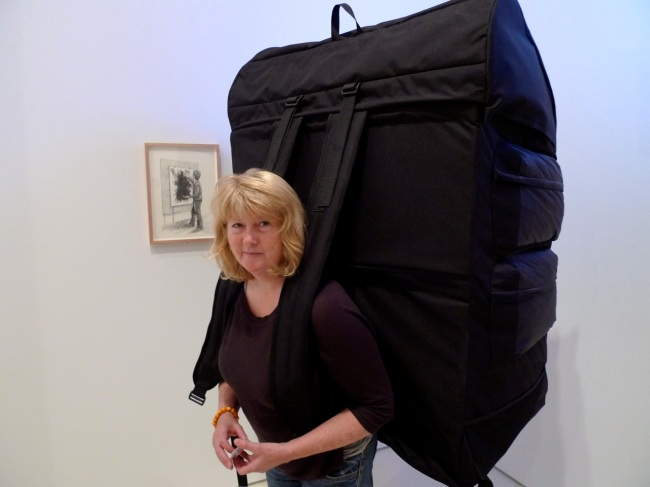 Jennifer Crowle performs an Artists Burden