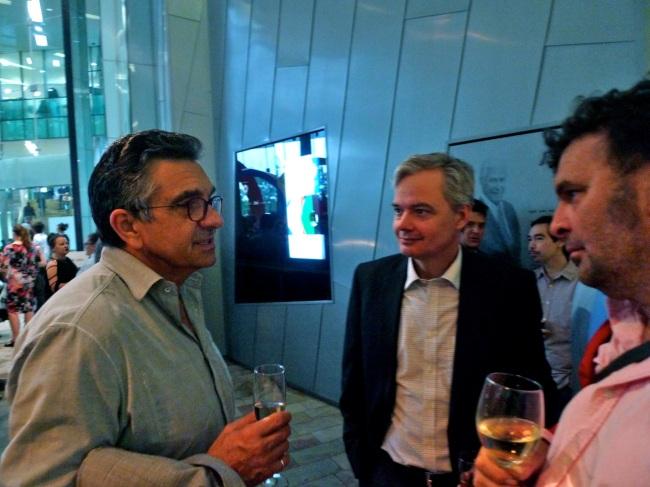 Jon Cattapan, Sam Funnell and Eddie Parritt