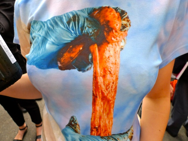 'Chitterlings' intestine t-shirt by Georgie Mattingley