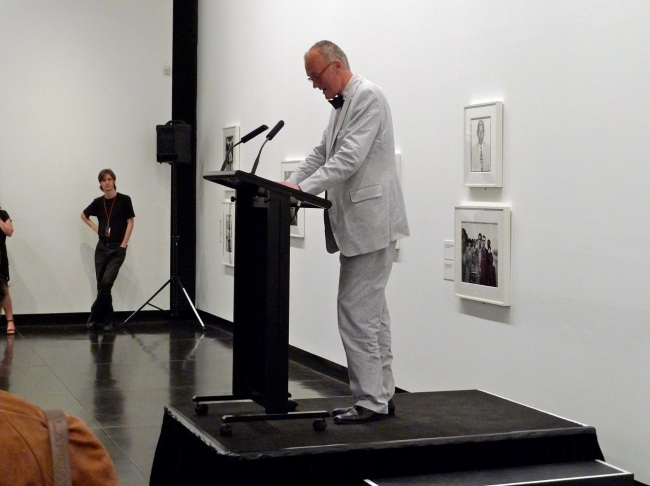 National Portrait gallery Director, Angus Trumble opens the show