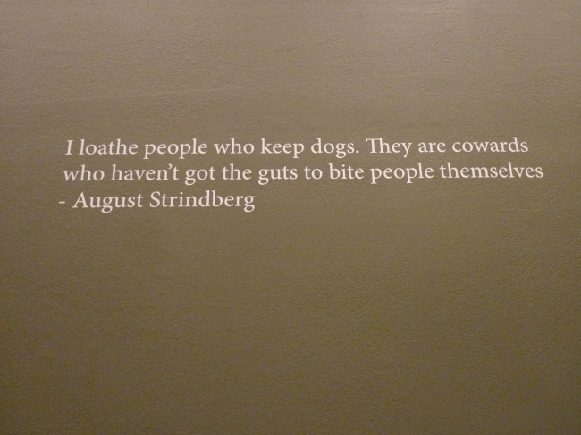 A golden August Strindberg quote