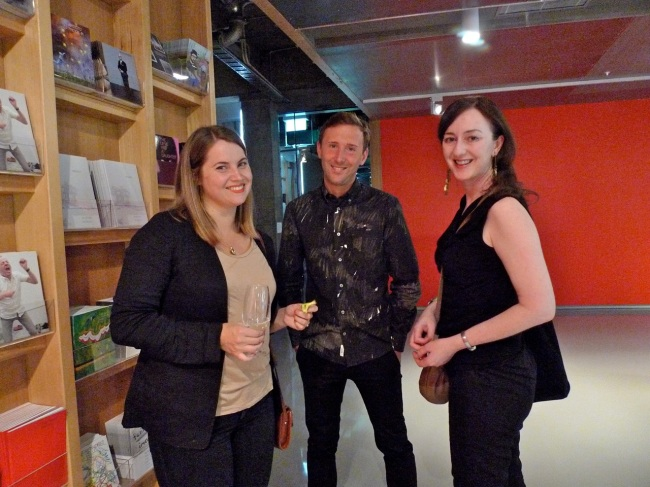 Aileen Burns, Johan Lundh and visiting curator Anne Barlow