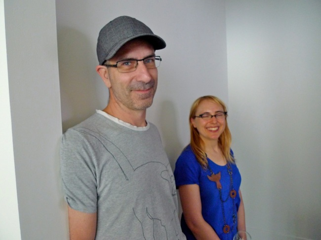 Justin Clemens and Curator Grace McQuilten