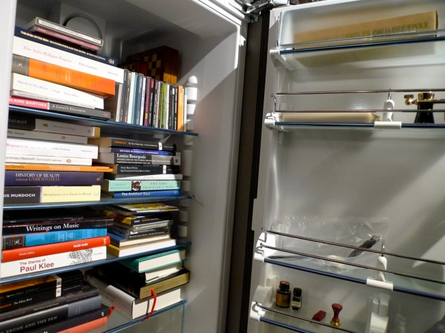 Theo Wong's book fridge