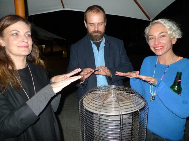 Angela Brophy, Mark Shorter and Jess Johnson