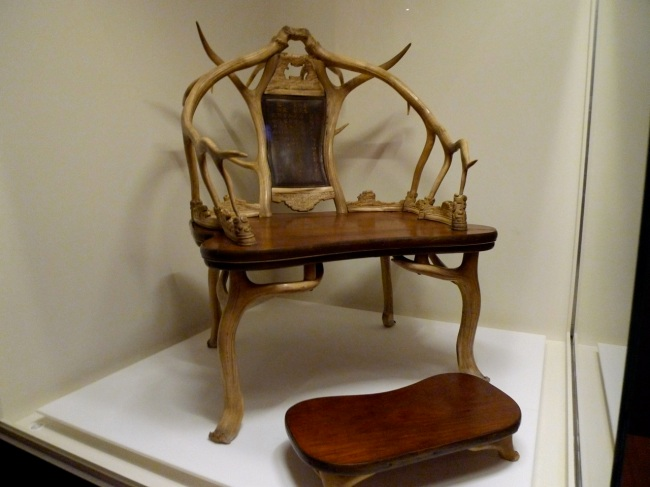 Deer Antler Armchair and Footrest (inspiration for Game of Thrones throne)
