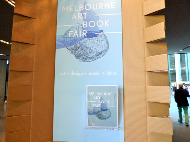 Melbourne Art Book Fair cardboard design