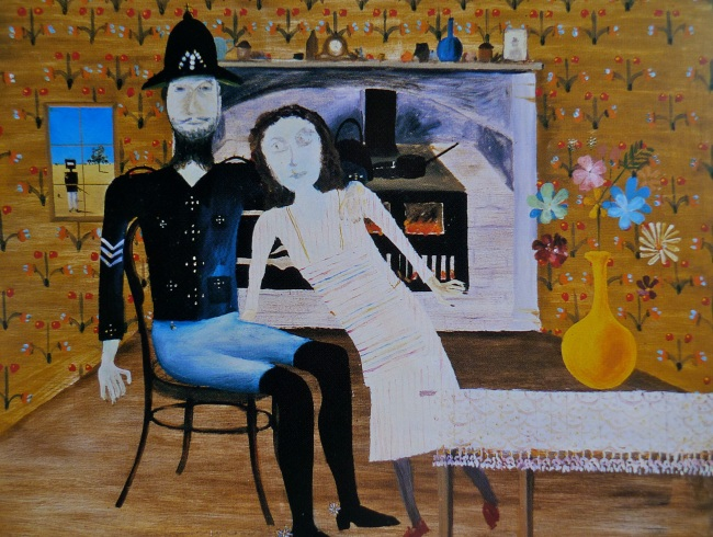Constable Fitzpatrick and Kate Kelly, 1946, Sidney Nolan