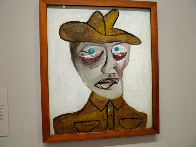 Head of a soldier, Sidney Nolan, 1942