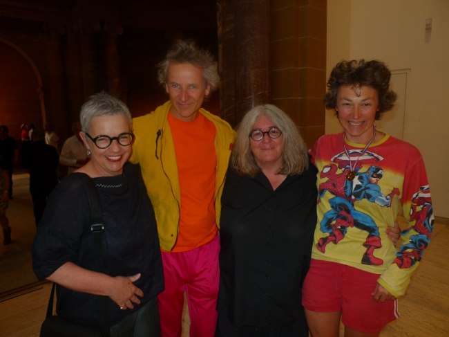 Kay Campbell Executive Director ACCA and partner Juliana Engberg former Artistic Director ACCA  with Gerda Steiner and Jorg Lenzlinger (19th Biennale Sydney)