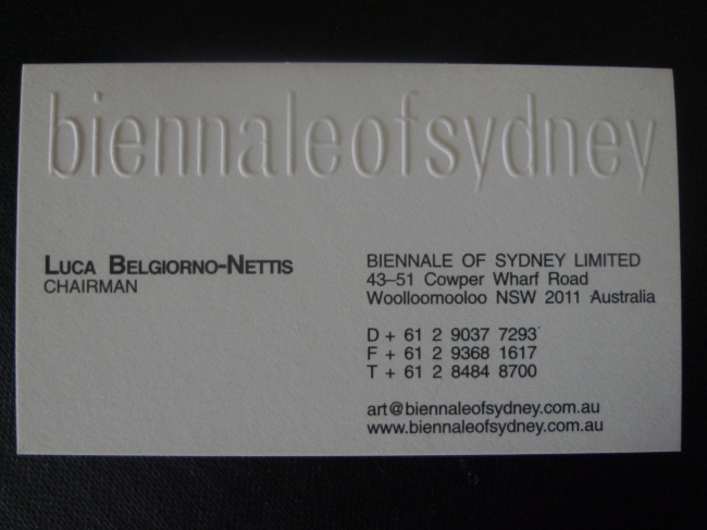 Luca Belgiorno-Nettis business card