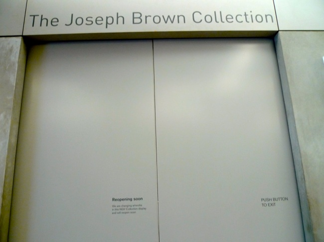 Joseph Brown collected art and made art of his own too, which he collected too and put in his own collection currently on permanant display at NGV