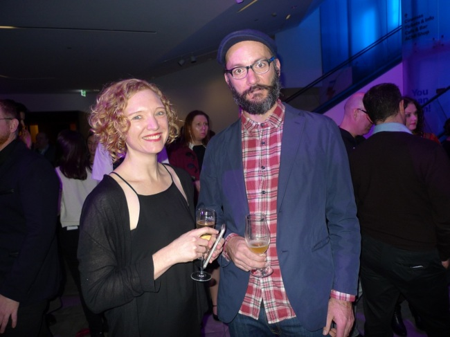 ACMI Curator Emma McRae and Daniel Crooksy Crooks
