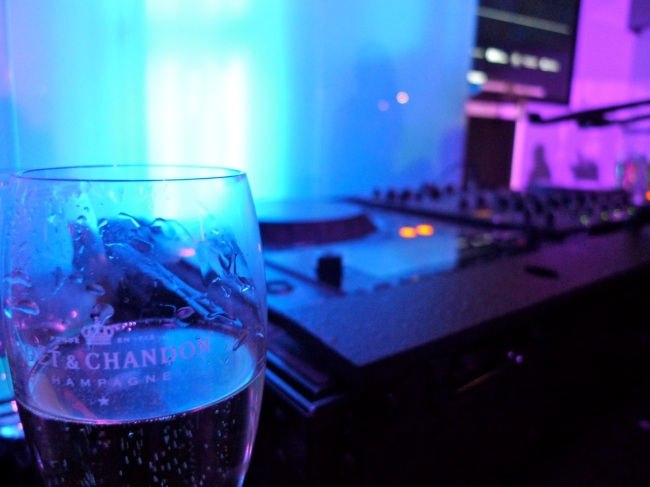 Music and champagne