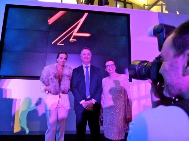 Rachel, Martin, ACMI CEO Katrina Sedgwick