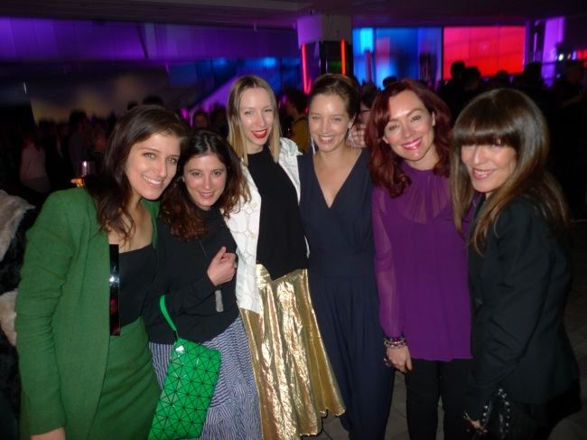 Sophie Bruce, Natalie King, Vanessa Ryan and friends (the V&A Curator is on Natalie's right)