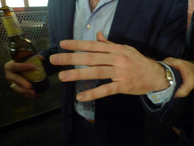 Erik Jensen was a hand model