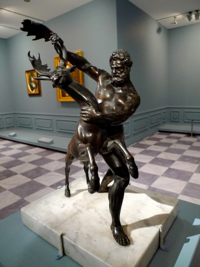 Hercules and the Ceryneian Hind by Giambologna, 1600