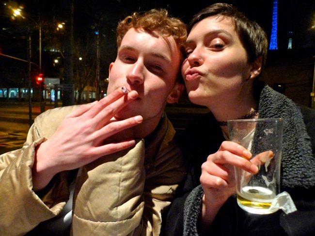 Josh Laver and Emily Murch