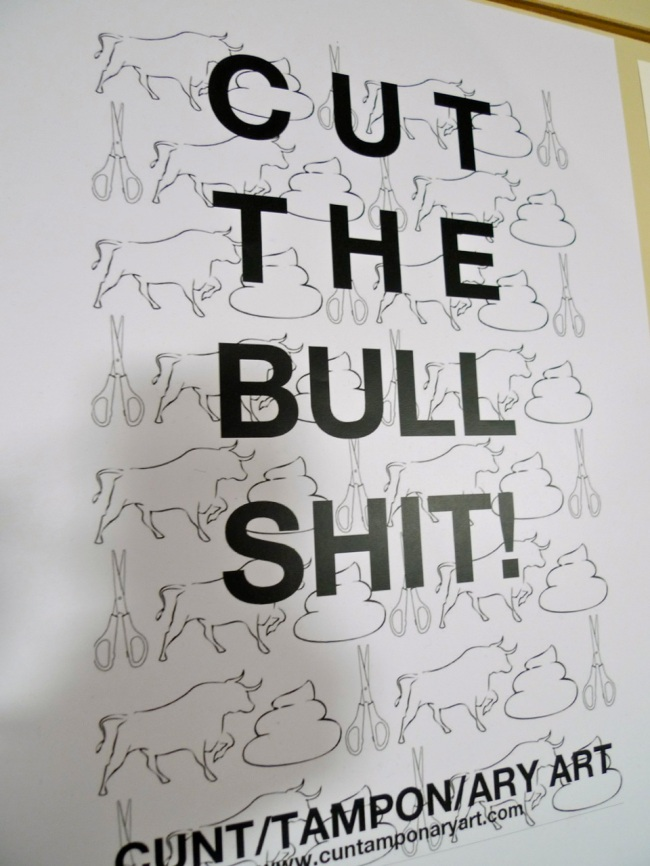 Cut the Bullshit (CAN), Cuntamponary Art Collective Manifesto, 2015