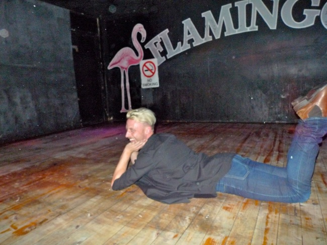 Elliot Bryce Foulkes practices his audition for NIDA, at Flamingos