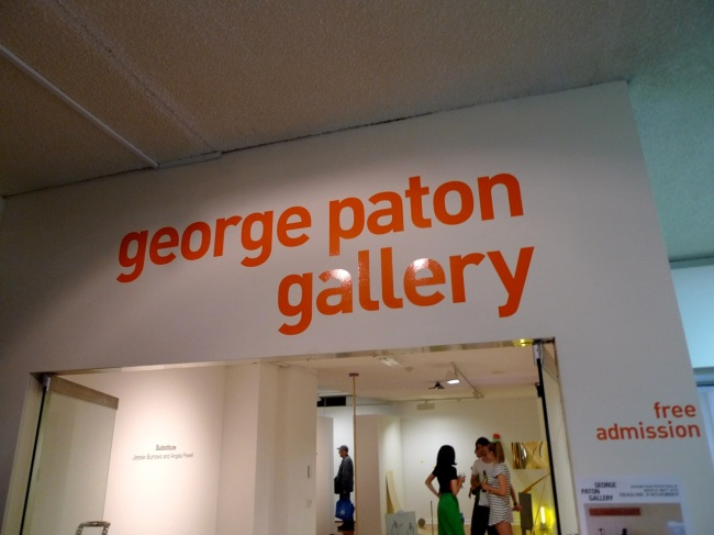 Free admission, George Paton Gallery