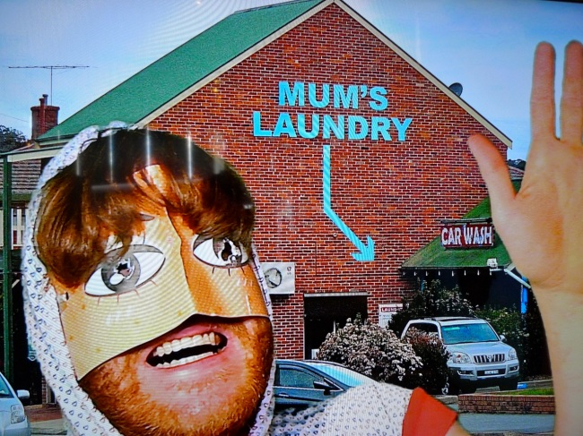 Heath gets his washing done