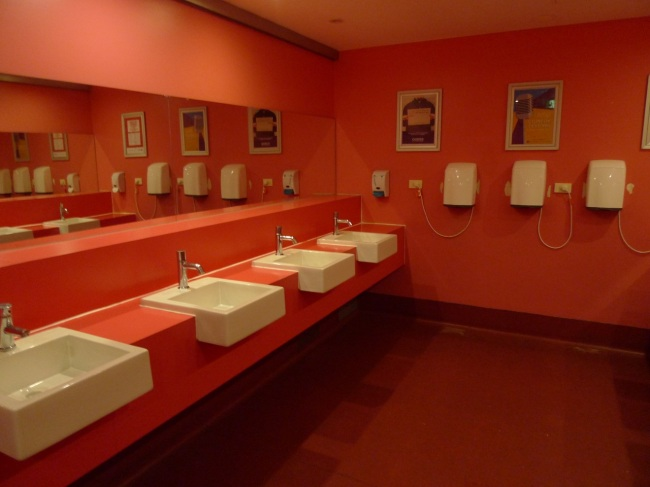 Pink toilets in the student union building, Melbourne University