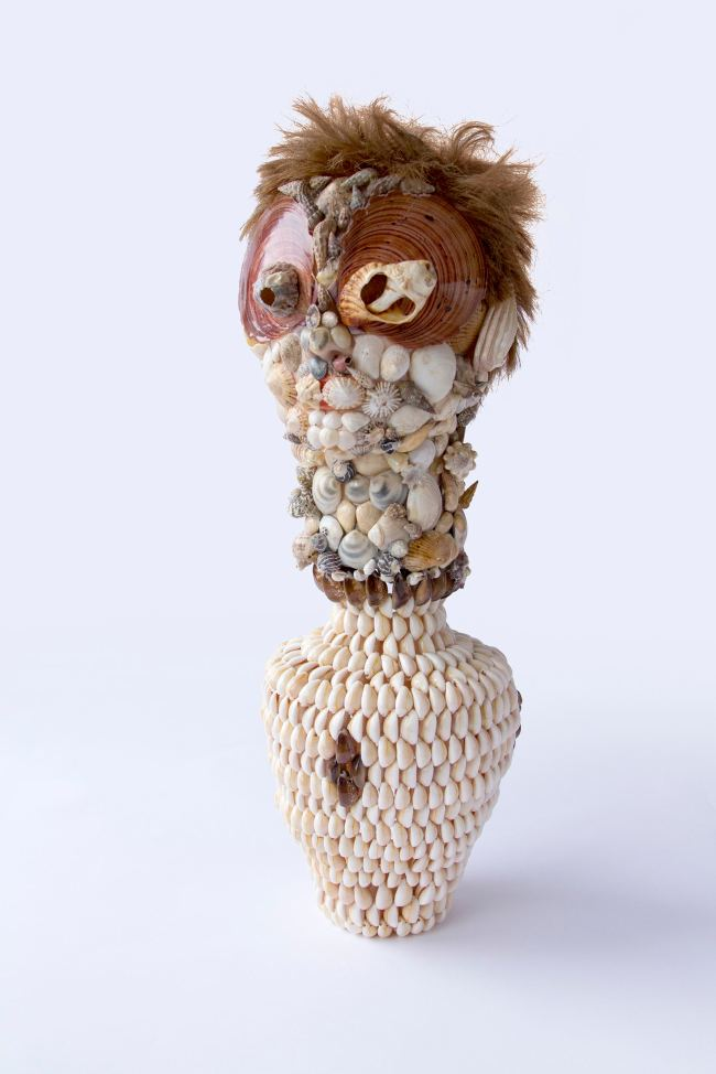 Nat Thomas Shell Bust with Vase 2013