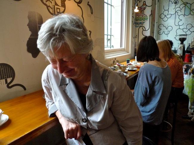 Gail Stiffe cracks herself up