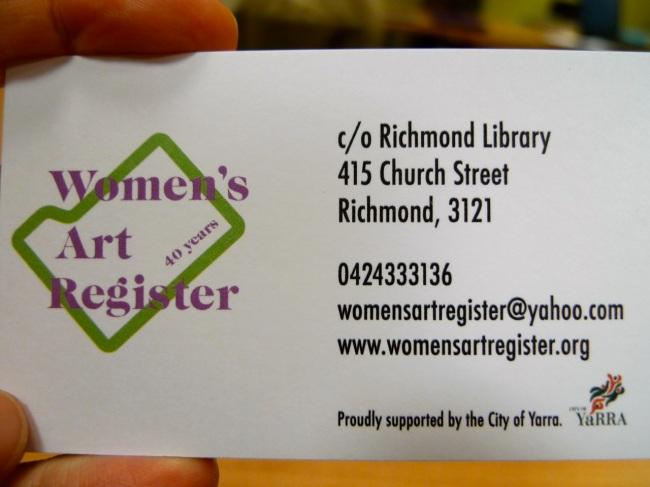 WAR- Women's Art Register