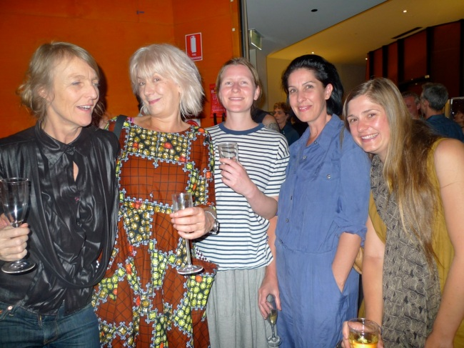 Claire Lambe, Sarah Crowest, Helen Hughes, Veronica Kent and Eva Heikey Olga Abbinga