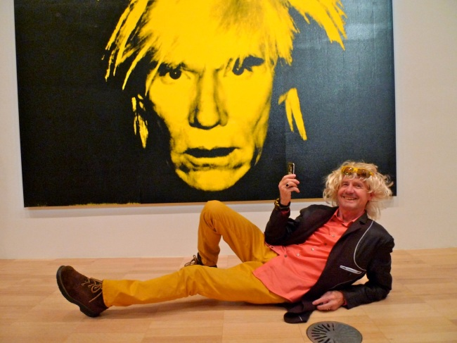 Lionel Curtis worships Warhol