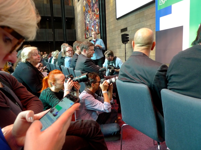 """""""Naaat!"""" - Max Delany keeps an eye on me at the media launch"""