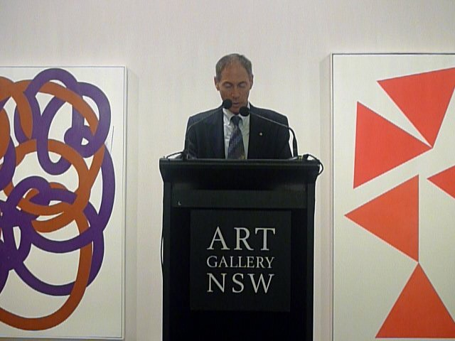Franco's son Guido, Chair of the Board of Trustee's AGNSW