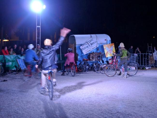 O'Sullivan & Benn bike clowning