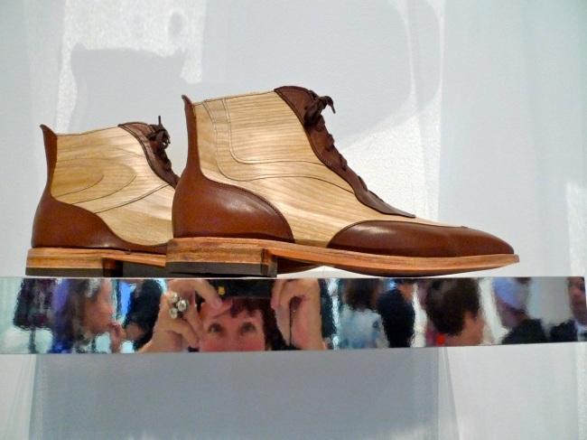 Brendan Dwyer Topographic timber veneer boots, 2013