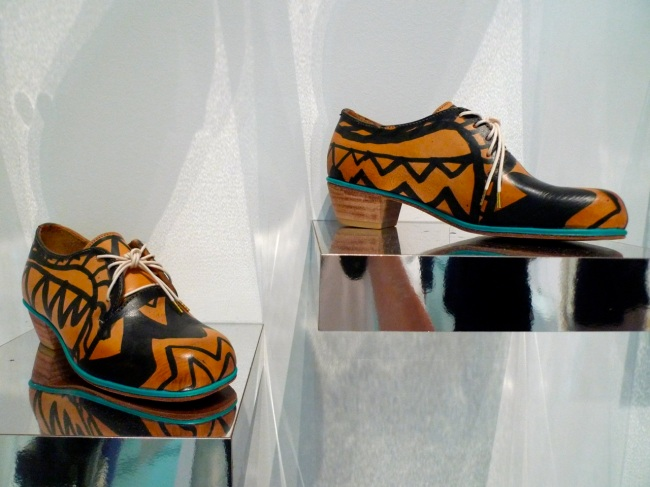 Claire Best handmade painted derby shoes, 2013