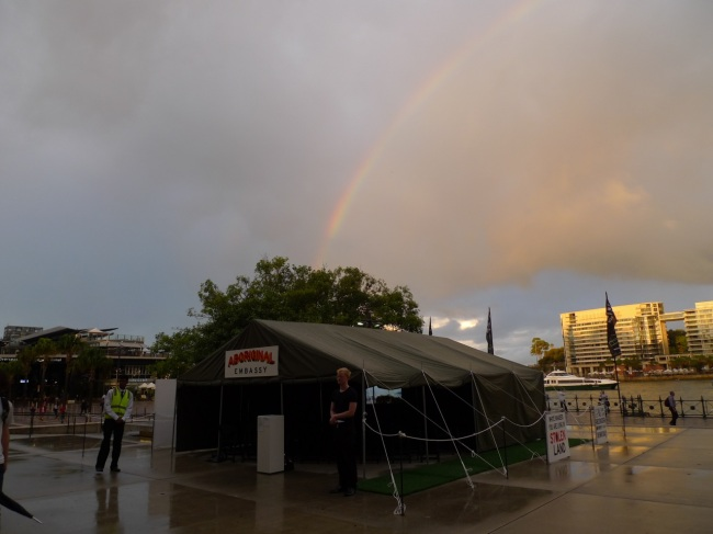 Rainbow over the Aboriginal Tent Embassy
