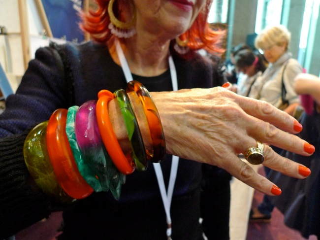 Helen Fragman accessorizes