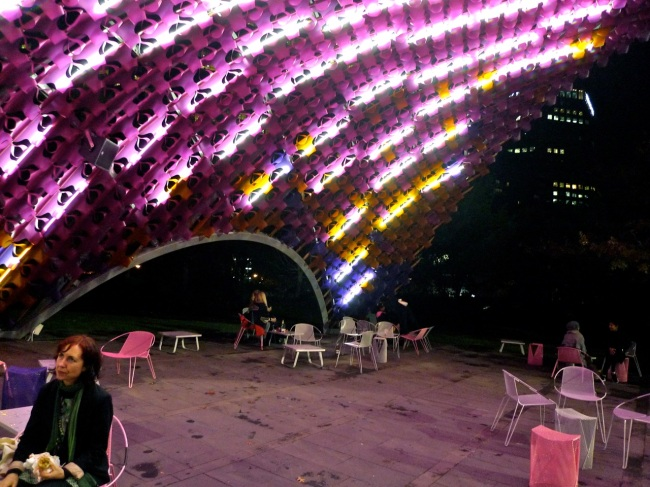 Pretty pink architectural shade thingo