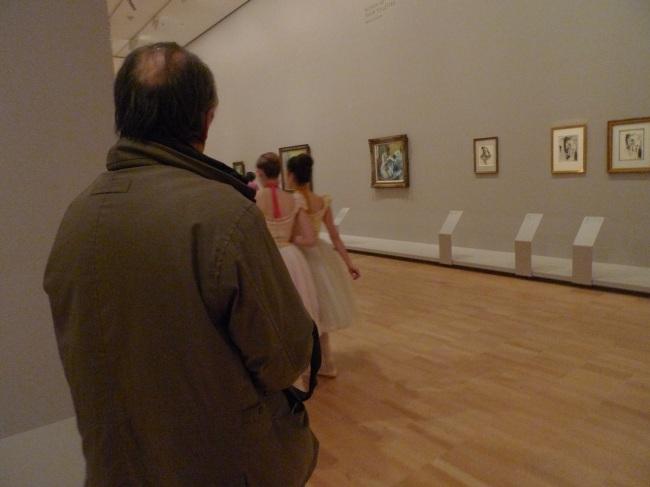 Ballerinas, going 'round a corner